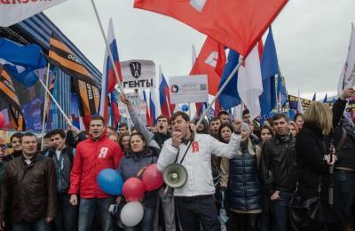 Игорь Давидович на шествии 1 мая