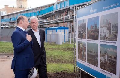 Мэр Москвы Сергей Собянин осмотрел новый энергоблок на ТЭЦ-12