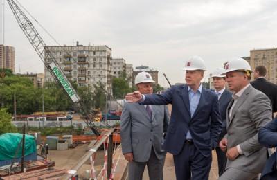 Мэр Москвы Сергей Собянин осмотрел ход работ по реконструкции Волоколамского путепровода