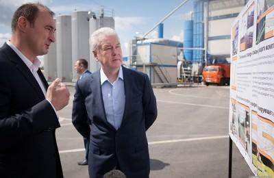 Мэр Москвы Сергей Собянин открыл новый асфальтовый завод