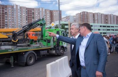 Мэр Москвы Сергей Собянин открыл новую развязку на Варшавском шоссе