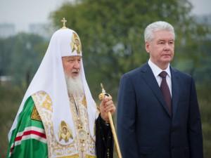Сергей Собянин побывал на освящении реставрируемого Князь-Владимирского храма