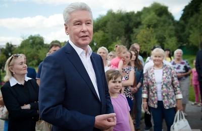 Мэр Москвы Сергей Собянин проверил работы по созданию Народного парка в Коньково