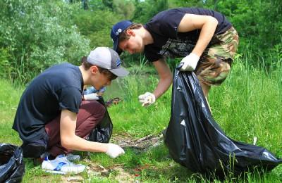 С начала августа волонтеры собрали более 260 кг мусора, половина из которого – пластик