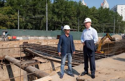 Мэр Москвы Сергей Собянин осмотрел строительство Северо-Западной хорды