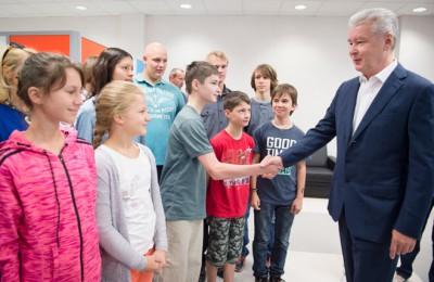 Мэр Москвы Сергей Собянин встретился с учениками гимназии