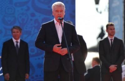 Мэр Москвы Сергей Собянин запустил часы Чемпионата мира по футболу-2018