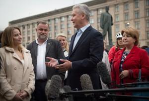 Мэр Москвы Сергей Собянин: Эта площадь, наконец, стала радовать горожан