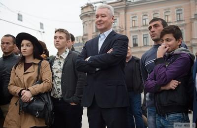 Сегодня мэр Москвы Сергей Собянин презентовал москвичам обновленную Триумфальную площадь
