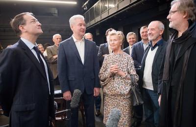 Мэр Москвы Сергей Собянин открыл сегодня новую сцену театра Вахтангова