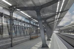 Естественное освещение станции «Технопарк» обеспечат за счет возведение стеклянного купола