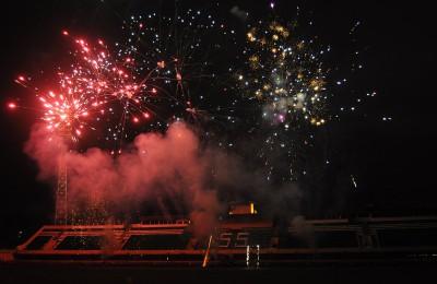 В честь 55-летия стадиона жители юга столицы стали свидетелями салюта
