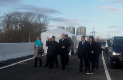 Сегодня мэр Москвы Сергей Собянин открыл Коптевский путепровод