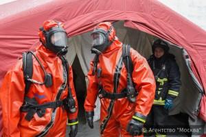 Спасательные подразделения столицы отработали тактику своих действий