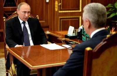 Президент России Владимир Путин встретился с мэром Москвы Сергеем Собяниным