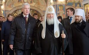Мэр Москвы Сергей Собянин осмотрел завершившуюся реставрацию Черниговского подворья