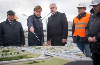 Мэр Москвы Сергей Собянин: Новый путепровод связывает два соседних района города