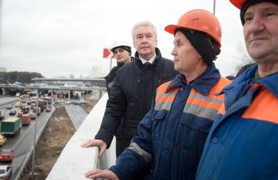 Мэр Москвы Сергей Собянин: Эта развязка стала для нас одним из самых сложных объектов