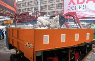 Все мобильные таялки снега в Южном округе оборудованы системой ГЛОНАСС