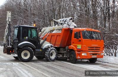 Каждый день в Москве вывозится до 1 млн кубического метра снега
