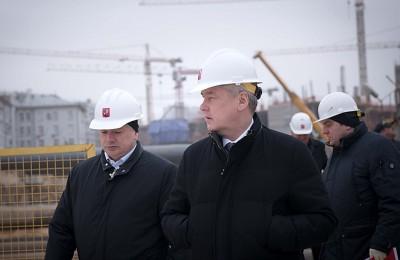 Мэр Москвы Сергей Собянин: Строительство новой станции метро идет полным ходом