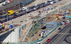 Нагатинский метромост частично перекрыт в связи с капитальным ремонтом