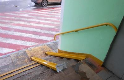 Ремонт пандуса в одном из многоквартирных домов Нагатинского затона провели по просьбе жителей