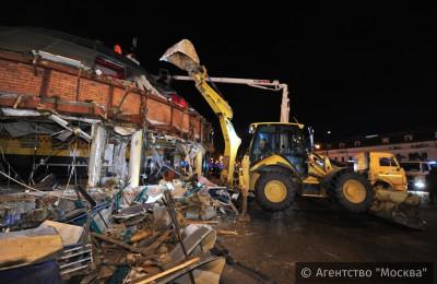Этой ночью в Москве начали сносить объекты самостроя