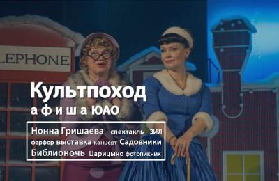 «Культпоход»: семейный фотопикник, спектакль с Нонной Гришаевой и всероссийская акция «Библионочь – 2016» пройдут в ЮАО