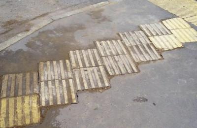Портал «Наш город» помог жителям района Нагатинский затон восстановить тактильную плитку