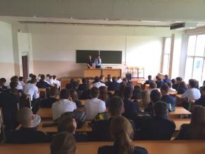 Студенты района Нагатинский затон обсудили с полицией безопасность движения