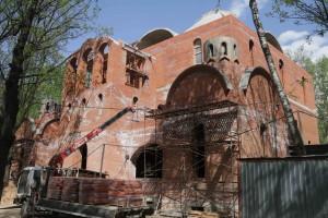 Строительство храма Николая Мирликийского в Бирюлеве