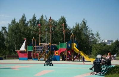 В районе Нагатинский затон появится новая детская площадка