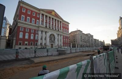 Работы по благоустройству Тверской улицы в Москве завершены досрочно