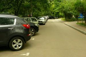 Парковка в районе Нагатинский Затон