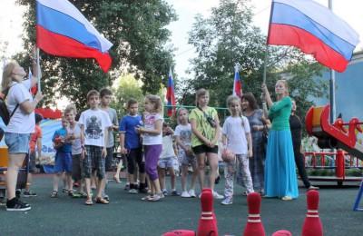 Молодежная палата района рассказала детям о флаге России