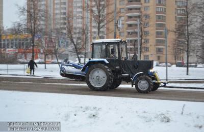 34 машины используют в районе для уборки снега