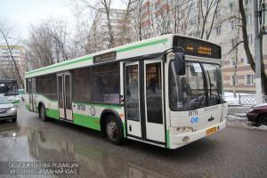 Автобус в районе Нагатинский затон
