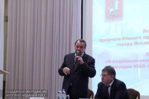 Алексей Челышев и Степан Орлов на встрече с жителями ЮАО