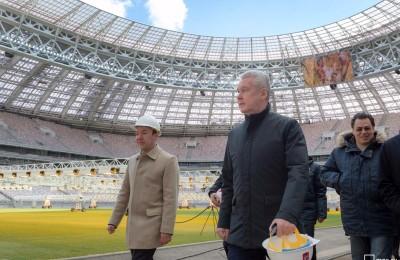 Реконструкция стадиона в Лужниках близится к завершению