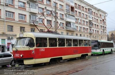 Трамвай №47 в районе Нагатинский затон