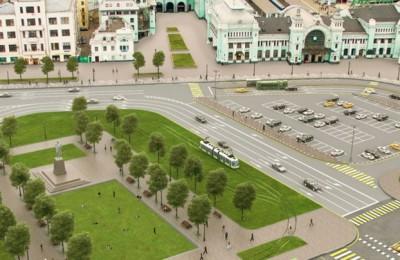 Трамваи вернутся на площадь Тверская Застава уже осенью