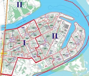 Схема многомандатных избирательных округов по выборам депутатов Совета депутатов муниципального округа Нагатинский затон в городе Москве