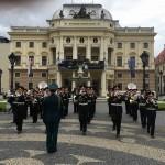 на Центральной площади г. Братислава