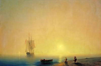 Картина Ивана Айвазовского «Морской берег»