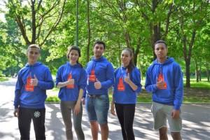 Активисты «Молодой гвардии» сдали нормативы ГТО