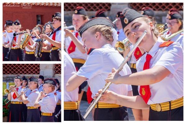 Детский кадетский оркестр девочек из школы № 1770