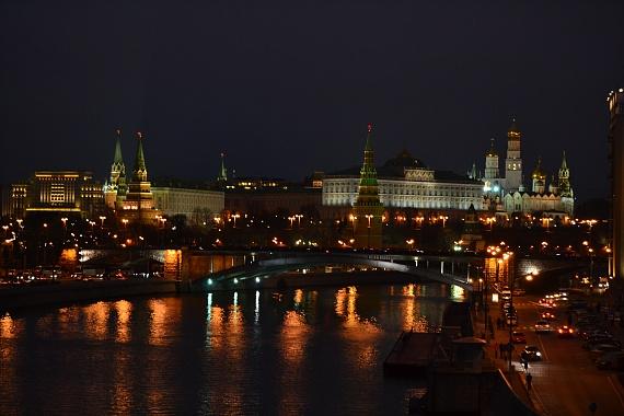 Московский Кремль в вечернее время
