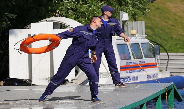 Спасатели на соревнованиях