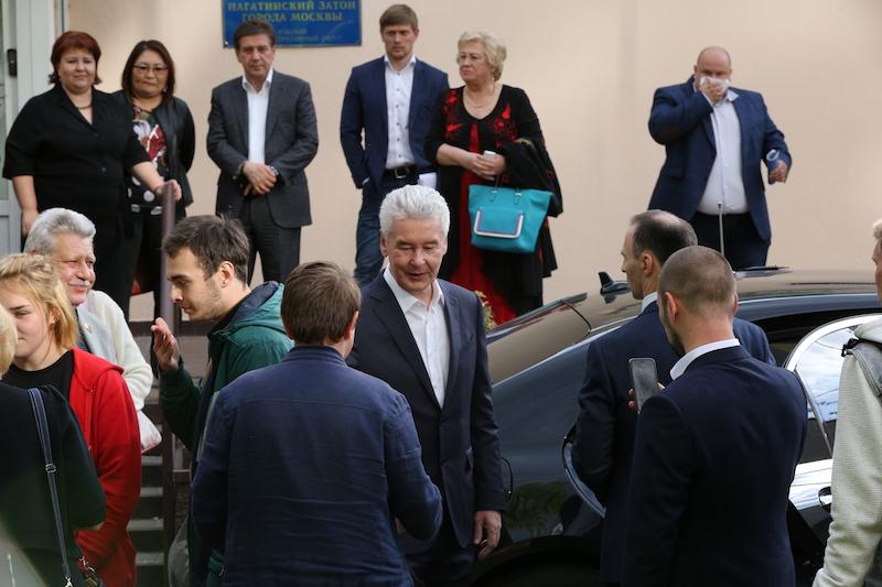 Сергей Собянин на встрече с жителями района